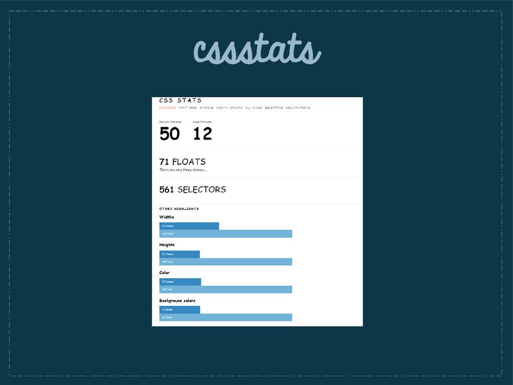 cssstats