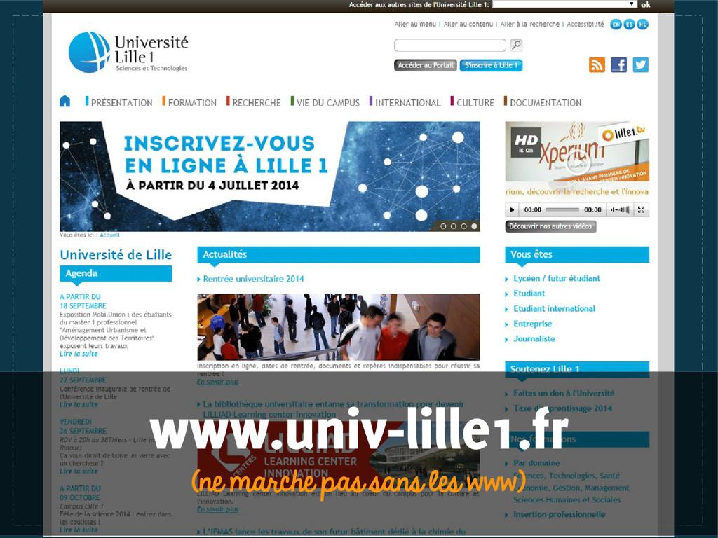 www.univ-lille1.fr (ne marche pas sans les www)