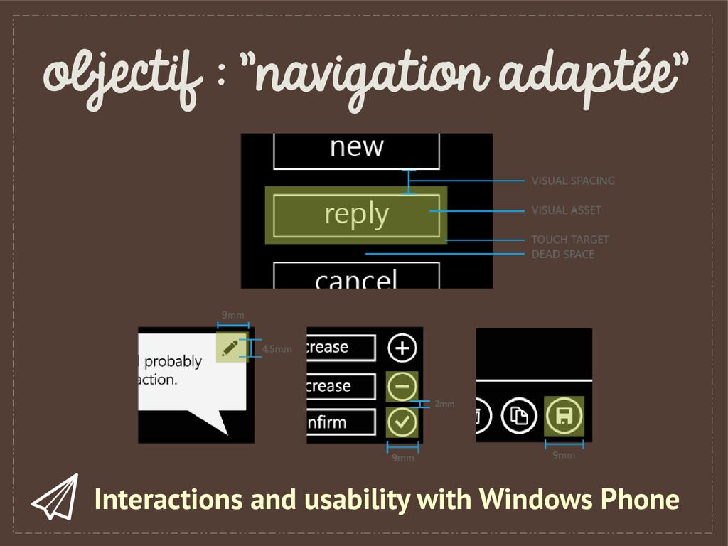 """objectif : """"navigation adaptée"""" Interactions an..."""