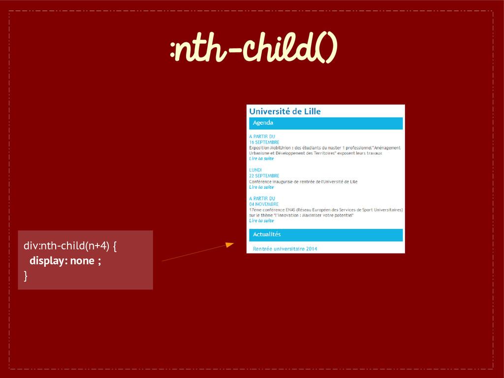 :nth-child() div:nth-child(n+4) { display: none...