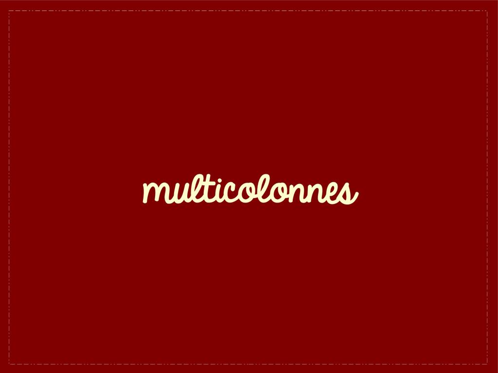 multicolonnes