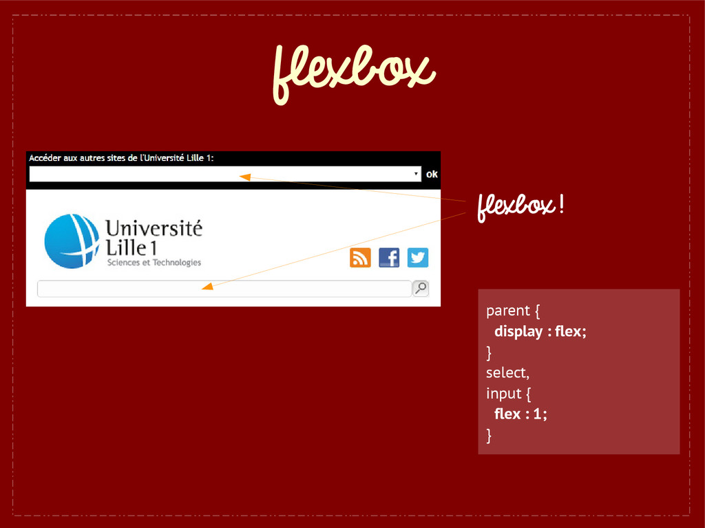 flexbox flexbox ! parent { display : flex; } se...