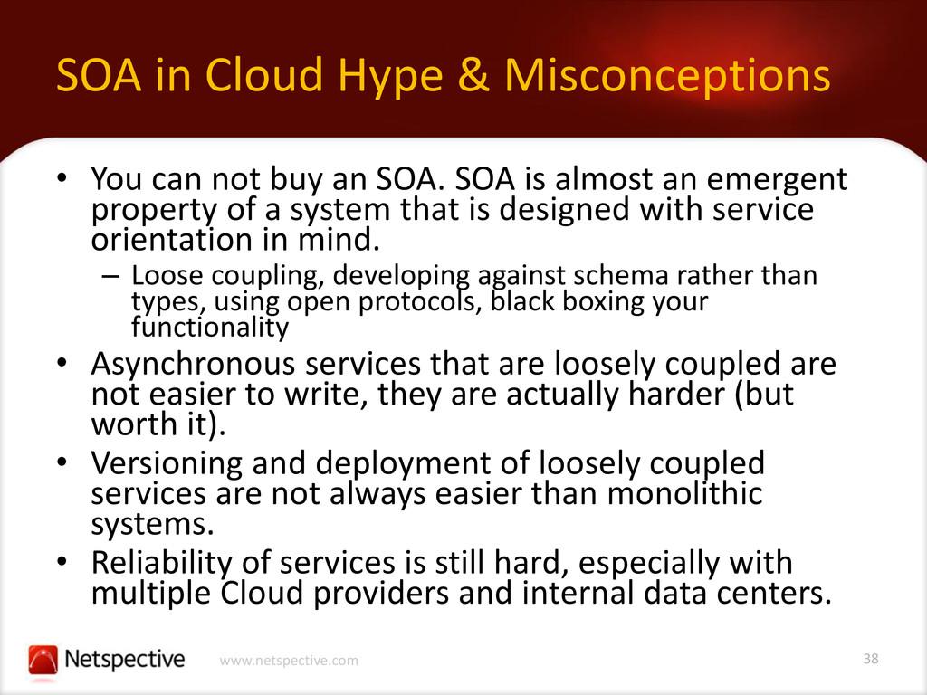 38 www.netspective.com SOA in Cloud Hype & Misc...
