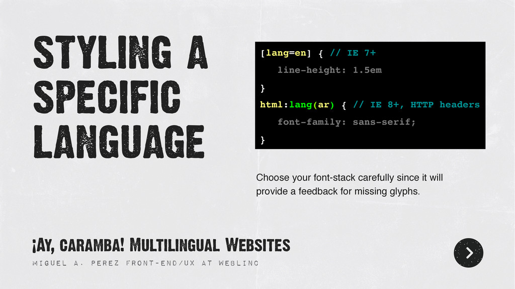 styling a specific language Miguel A. Perez Fro...
