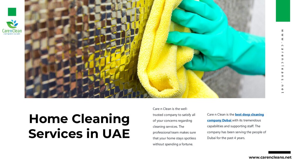 Home Cleaning Services in UAE Care n Clean is t...