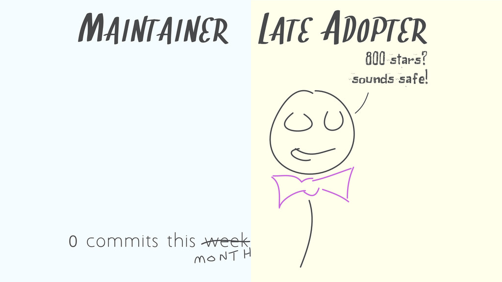 MAINTAINER LATE ADOPTER 800 stars? sounds safe!...