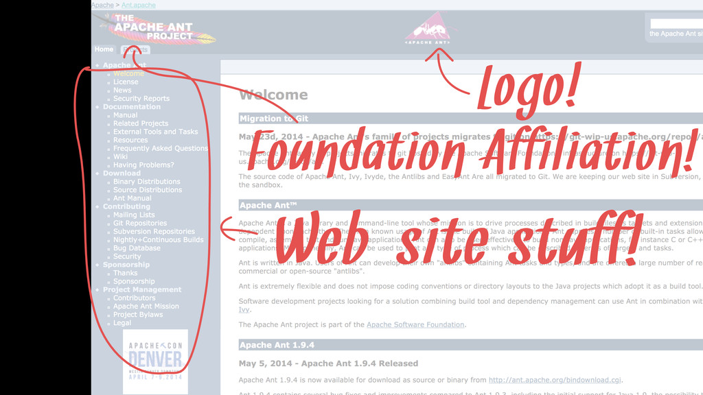 Logo! Foundation Affiliation! Web-site stuff!