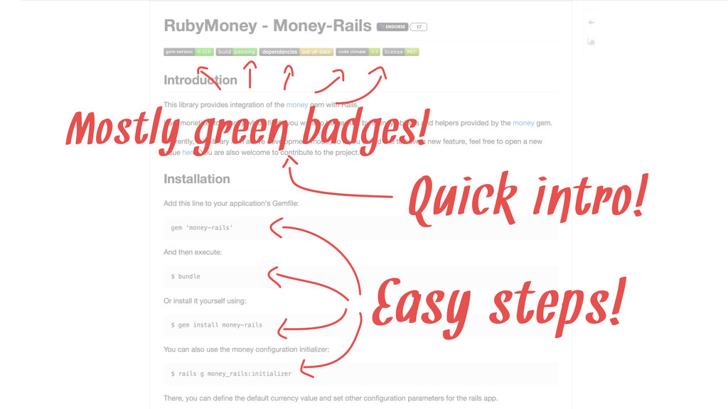 Quick intro! Easy steps! Mostly green badges!