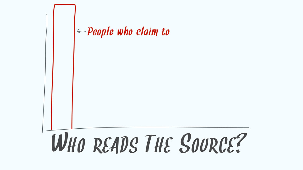 WHO READS THE SOURCE? People who claim to