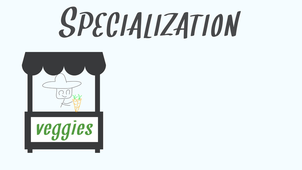 SPECIALIZATION veggies