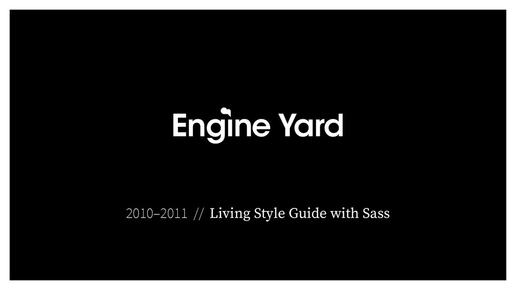 2010–2011 // Living Style Guide with Sass