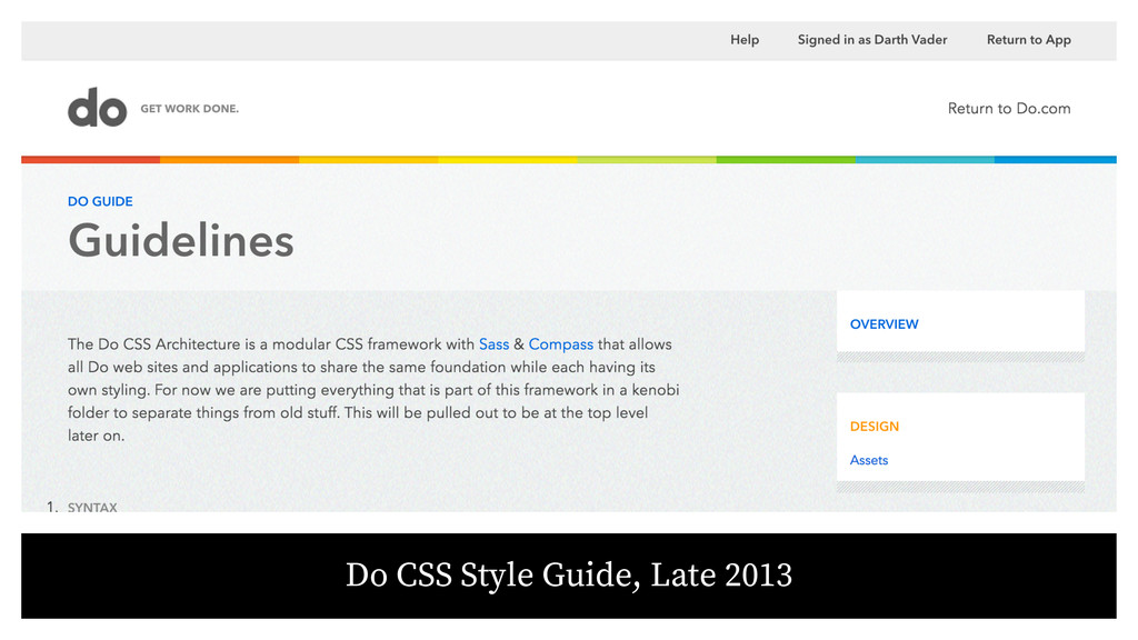 Do CSS Style Guide, Late 2013