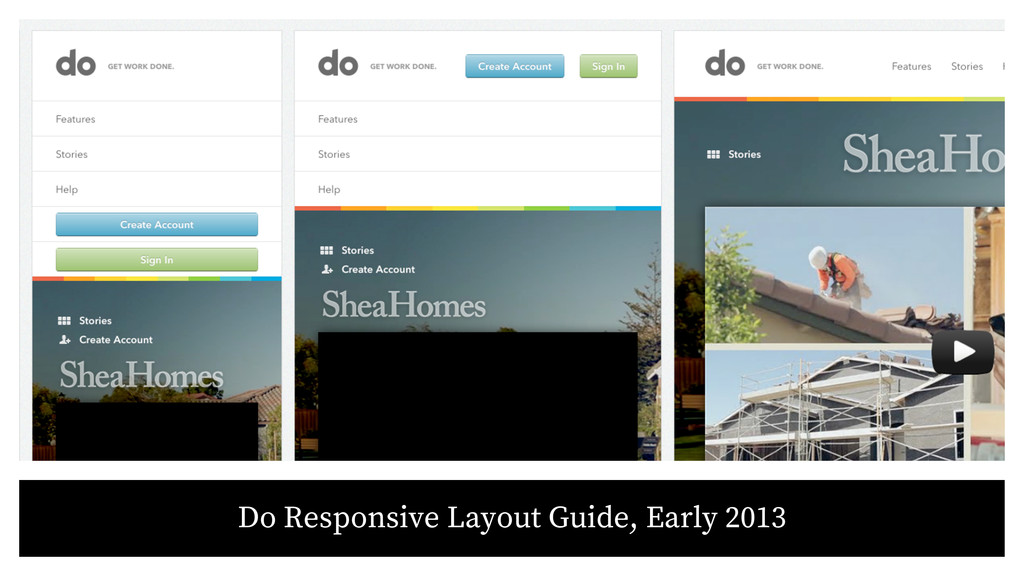 Do Responsive Layout Guide, Early 2013
