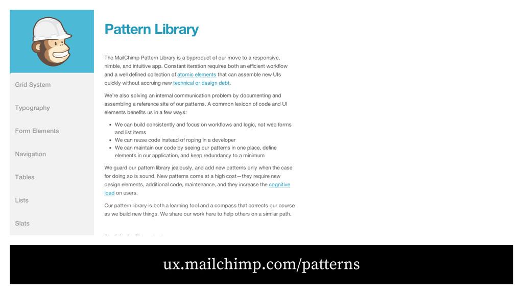 ux.mailchimp.com/patterns