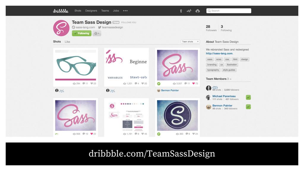dribbble.com/TeamSassDesign