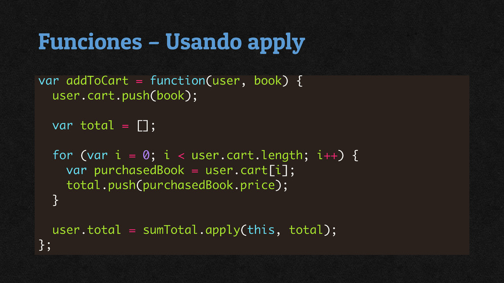 Funciones – Usando apply