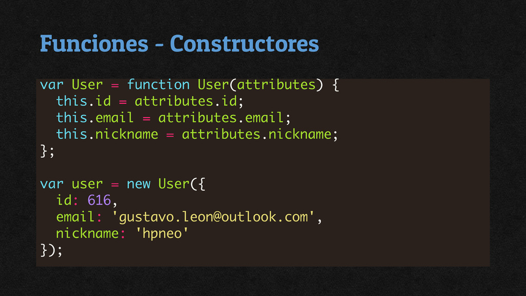 Funciones - Constructores