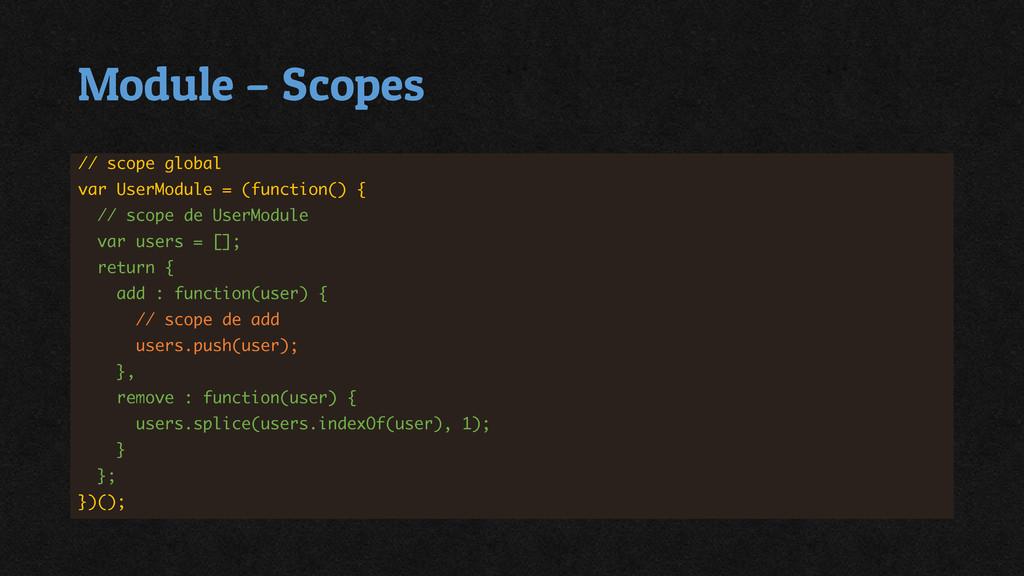 Module – Scopes