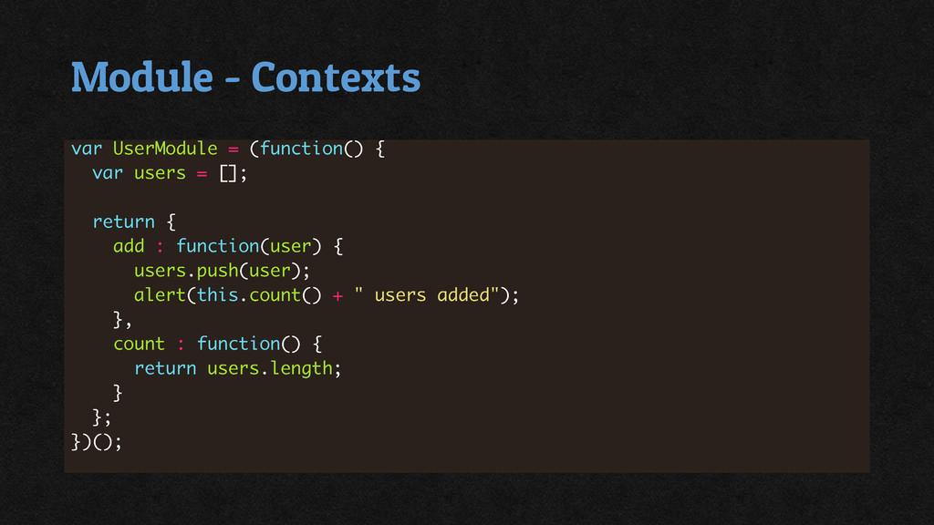 Module - Contexts