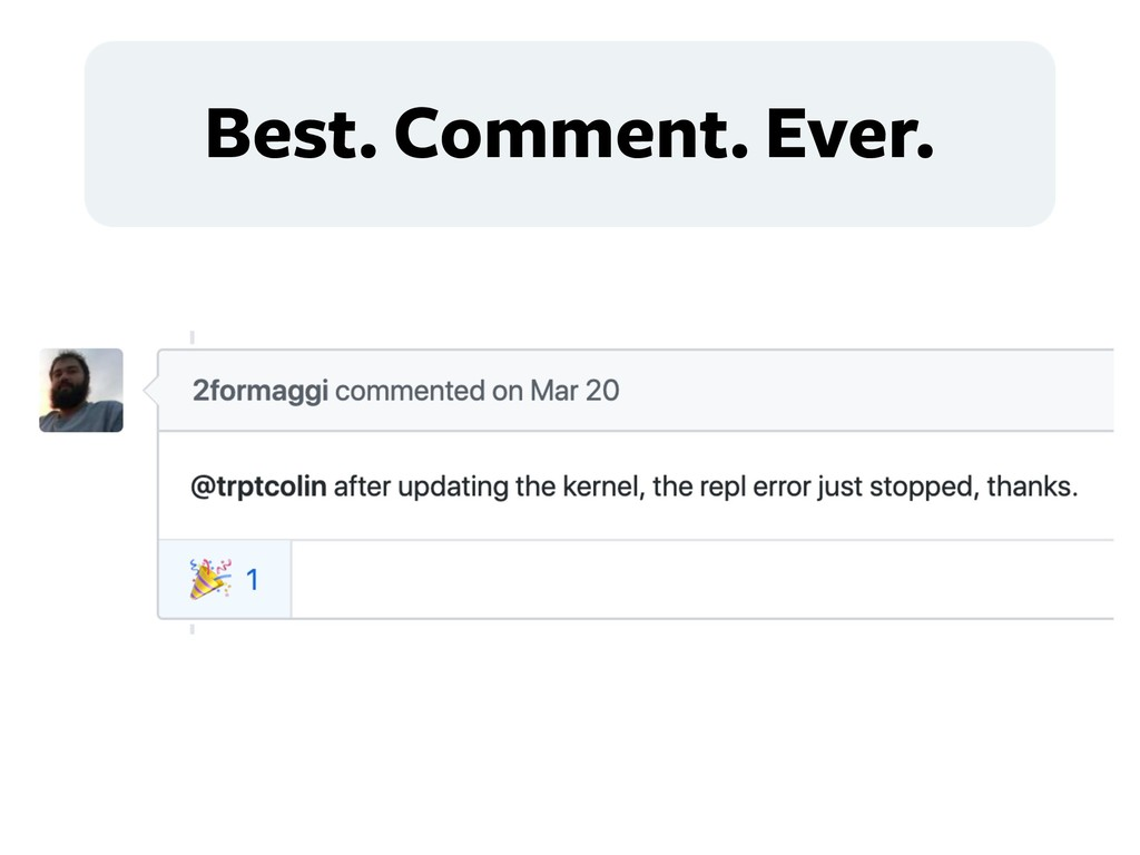 Best. Comment. Ever.