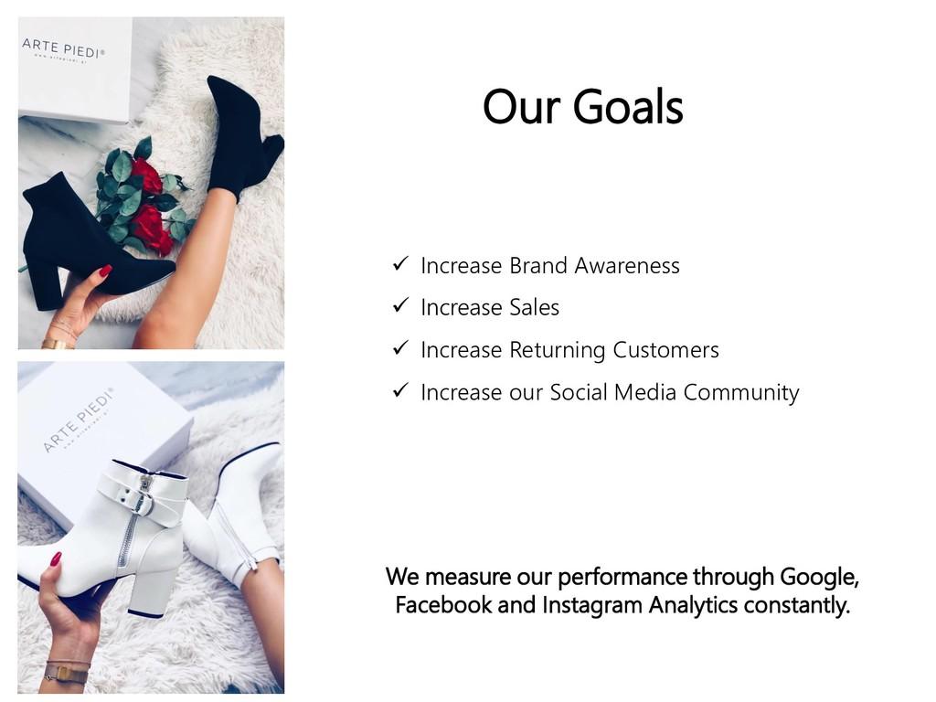Our Goals  Increase Brand Awareness  Increase...
