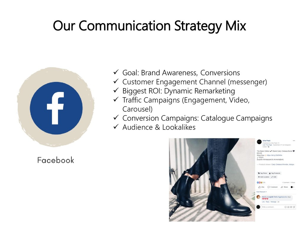 Our Communication Strategy Mix  Goal: Brand Aw...