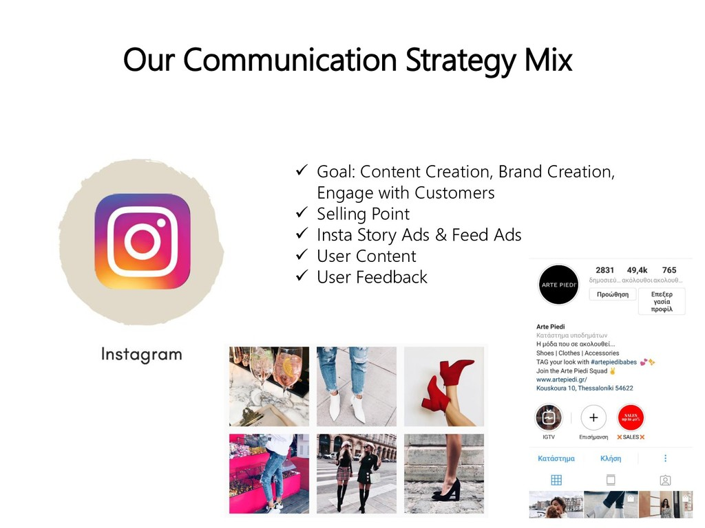 Our Communication Strategy Mix  Goal: Content ...