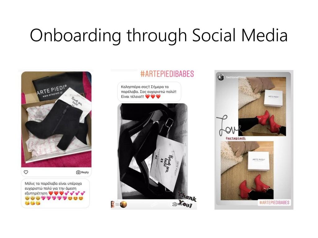 Onboarding through Social Media