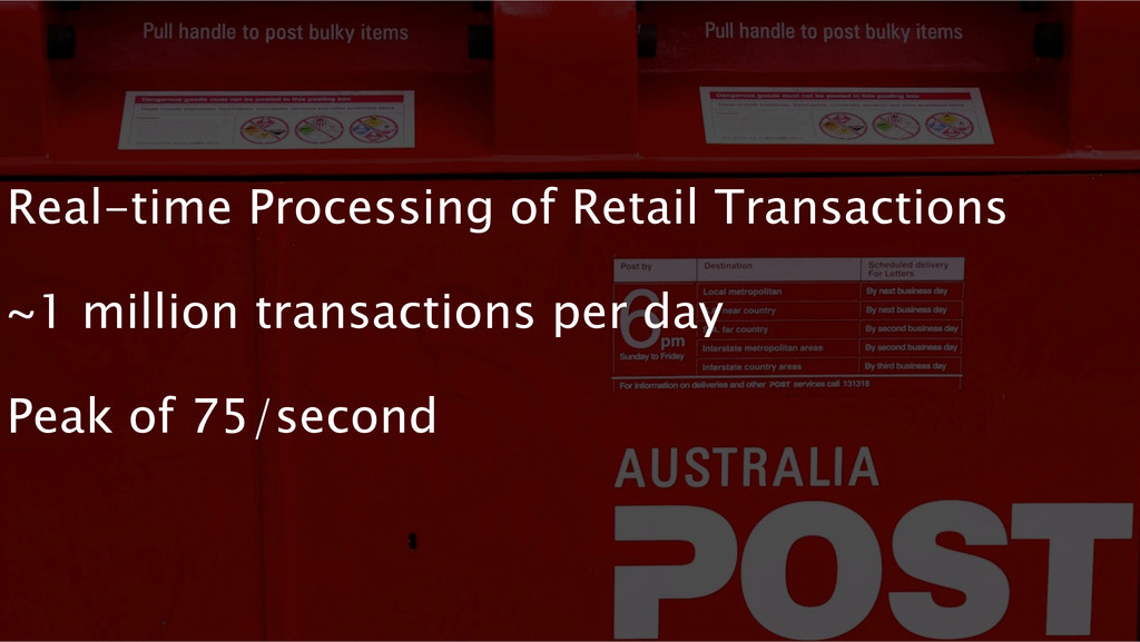 Real-time Processing of Retail Transactions ~1 ...