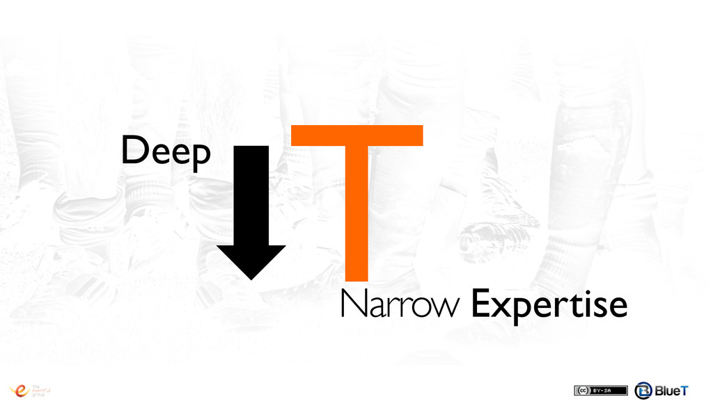 T! Narrow Expertise! Deep!
