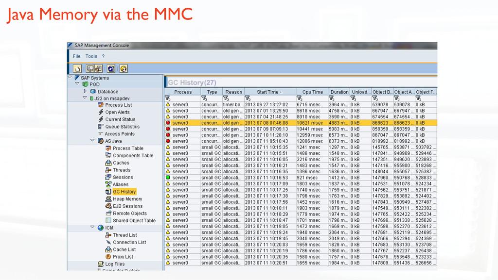 Java Memory via the MMC!