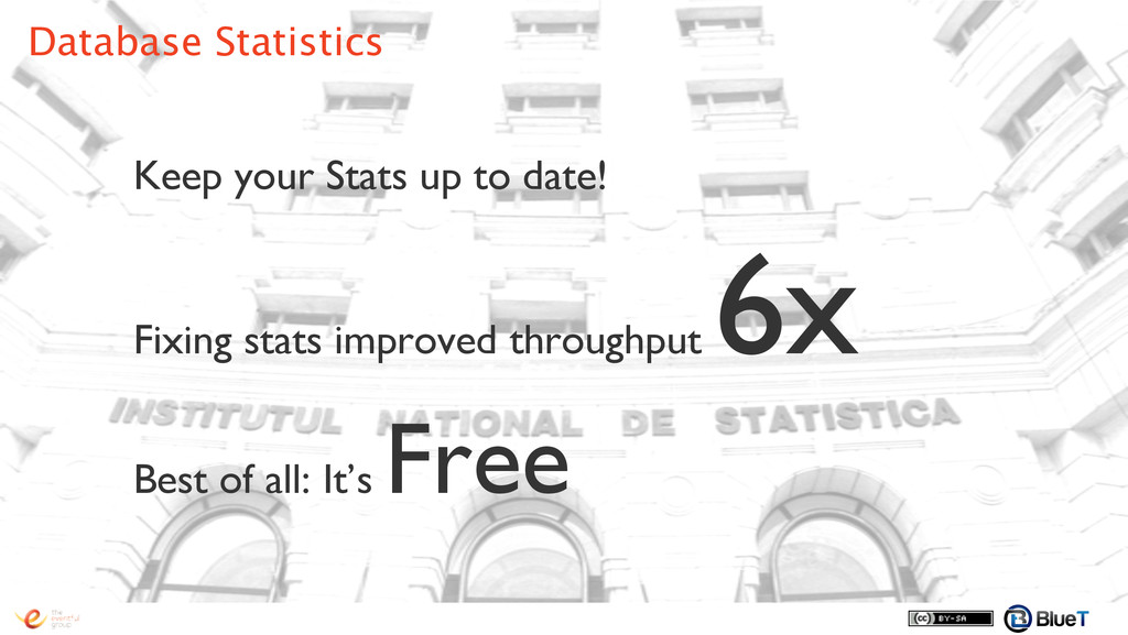 Keep your Stats up to date! ! Fixing stats impr...