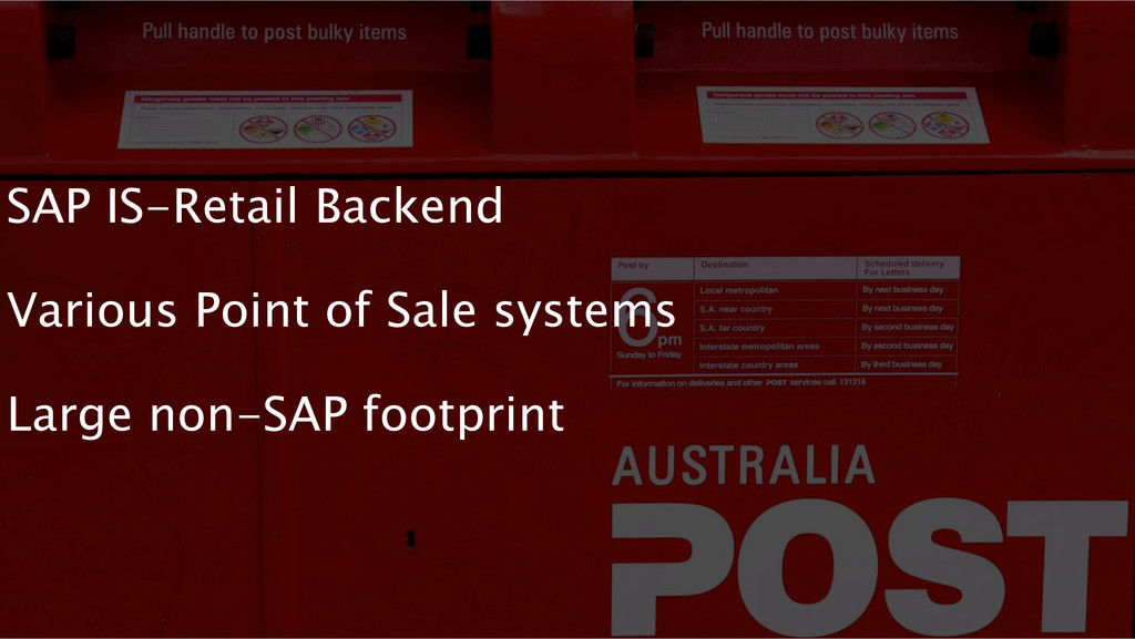 SAP IS-Retail Backend Various Point of Sale sys...