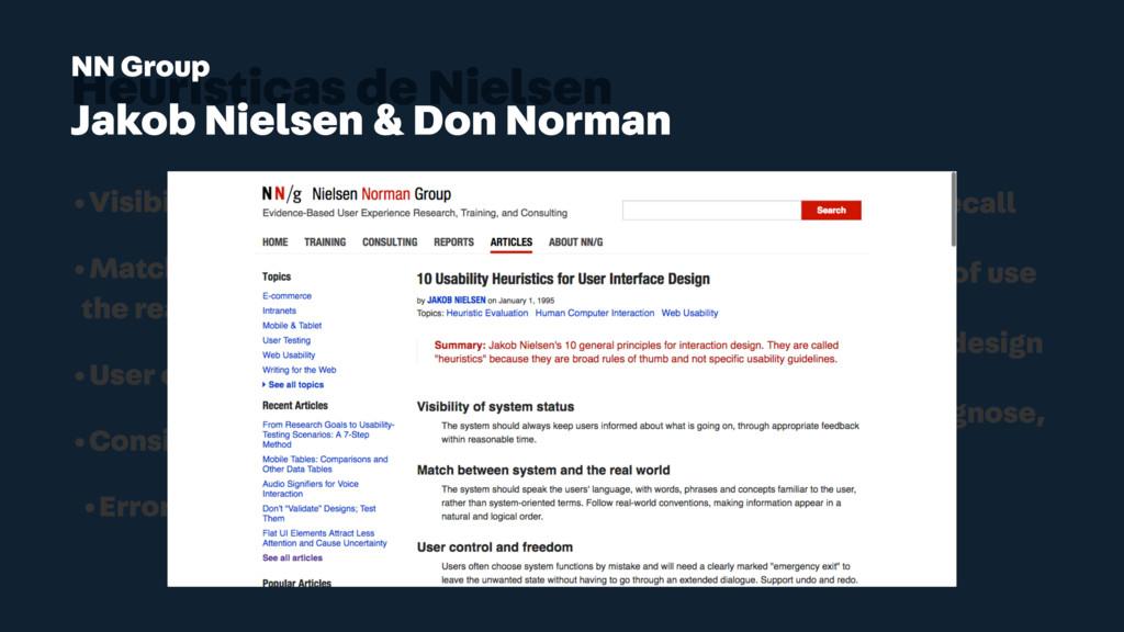 Heurísticas de Nielsen •Visibility of system st...
