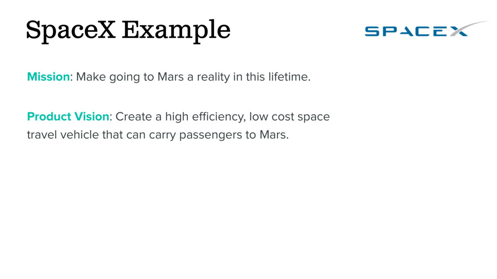 SpaceX Example Mission: Make going to Mars a re...