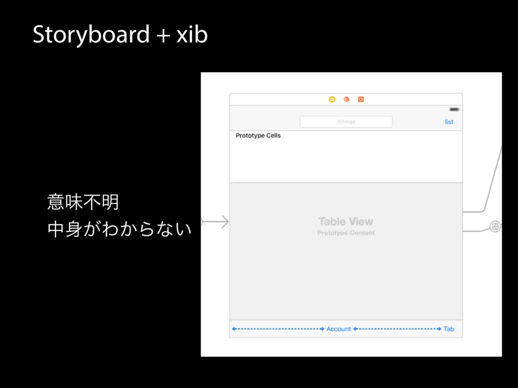 Storyboard + xib ҙຯෆ໌ த͕Θ͔Βͳ͍