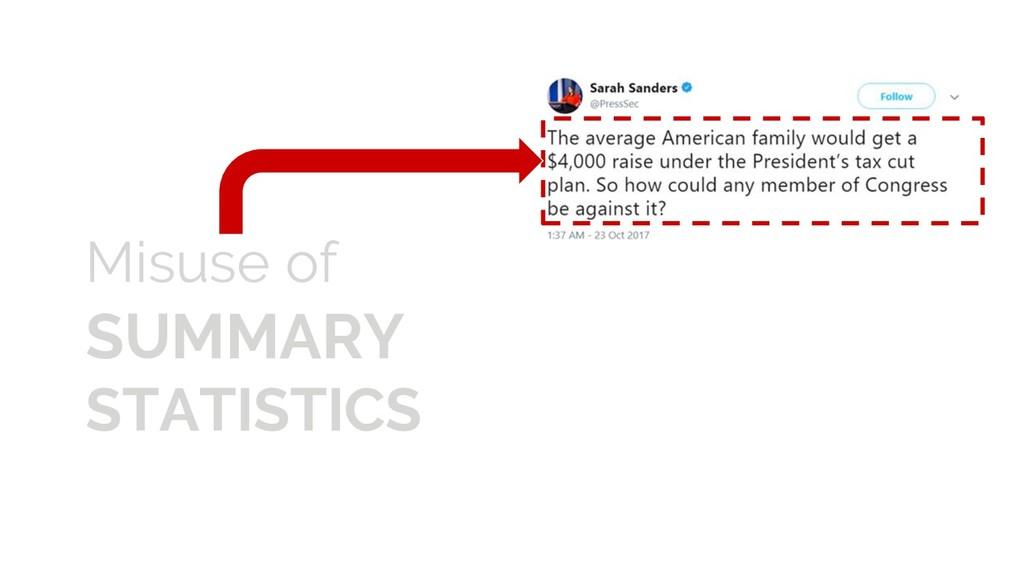 Misuse of SUMMARY STATISTICS