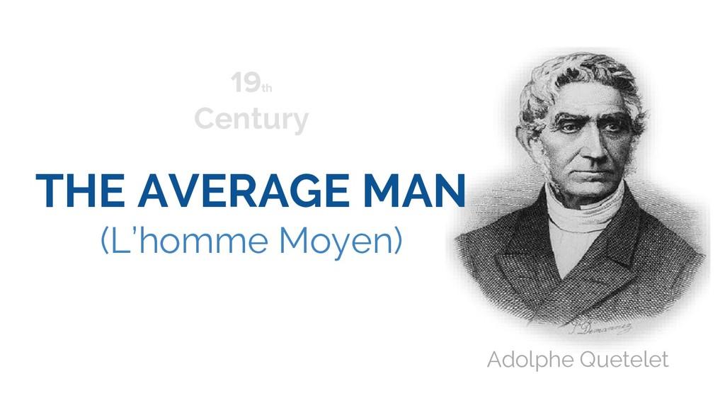 THE AVERAGE MAN (L'homme Moyen) 19th Century Ad...