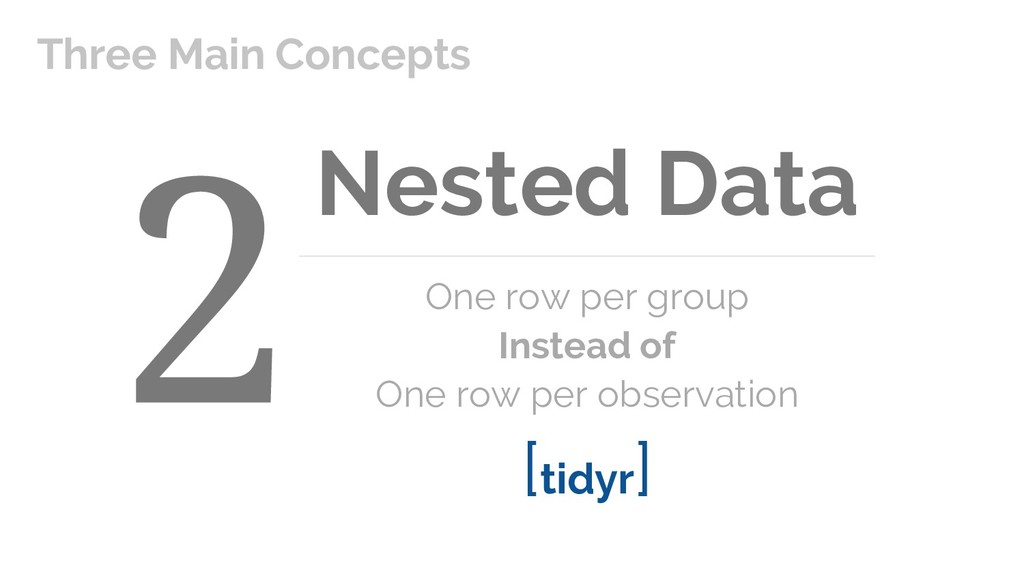 Nested Data One row per group Instead of One ro...