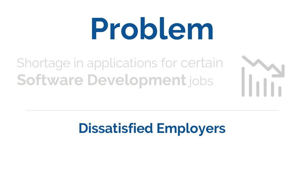Problem Shortage in applications for certain So...