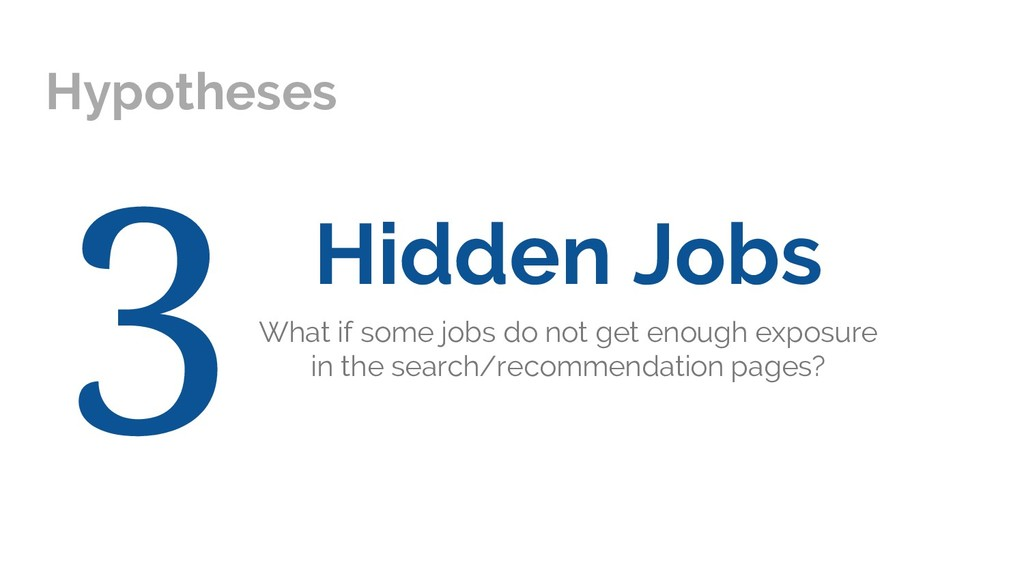 Hypotheses Hidden Jobs What if some jobs do not...