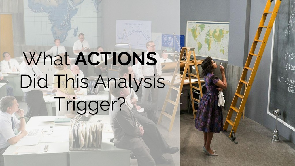 What ACTIONS Did This Analysis Trigger?
