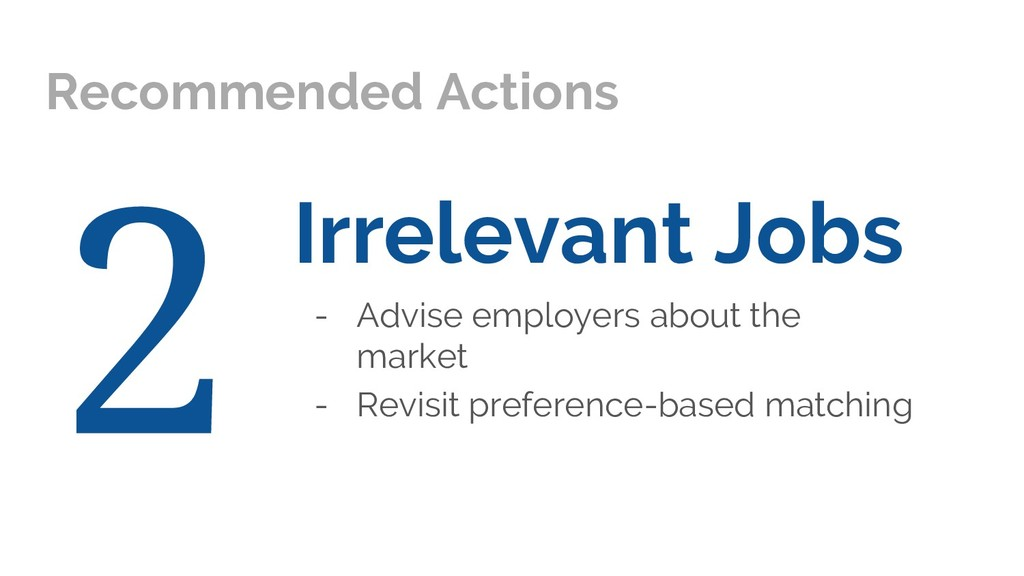 Irrelevant Jobs - Advise employers about the ma...