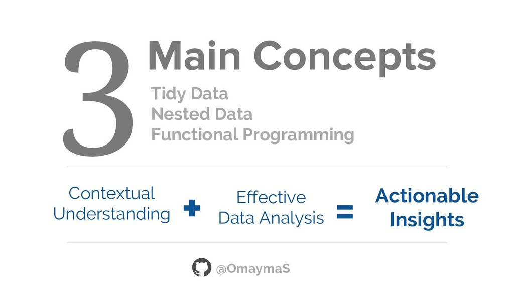Main Concepts Tidy Data Nested Data Functional ...
