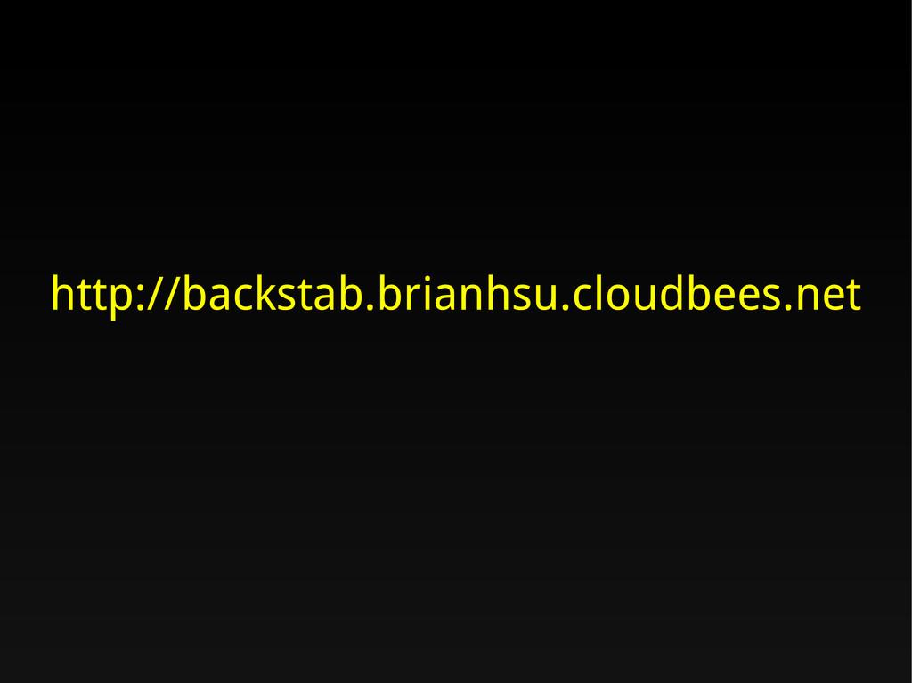 http://backstab.brianhsu.cloudbees.net