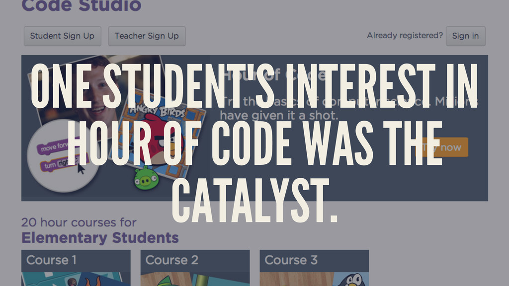 ONE STUDENT'S INTEREST IN HOUR OF CODE WAS THE ...