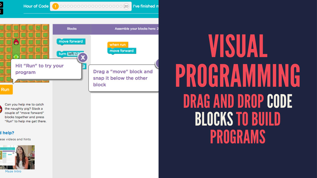 VISUAL PROGRAMMING DRAG AND DROP CODE BLOCKS TO...