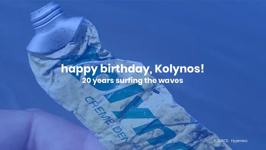happy birthday, Kolynos! 20 years surfing the w...