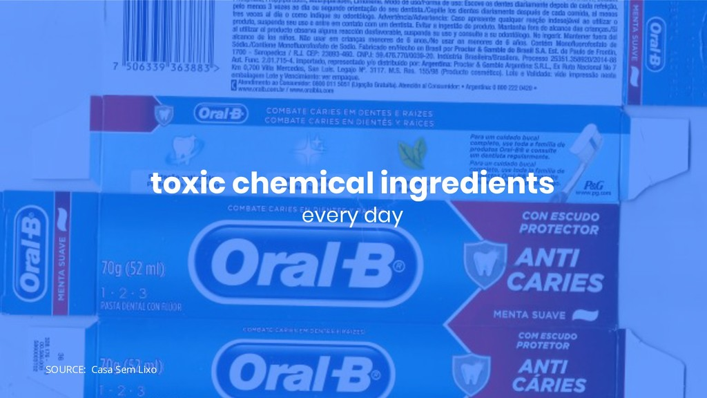 toxic chemical ingredients every day SOURCE: Ca...