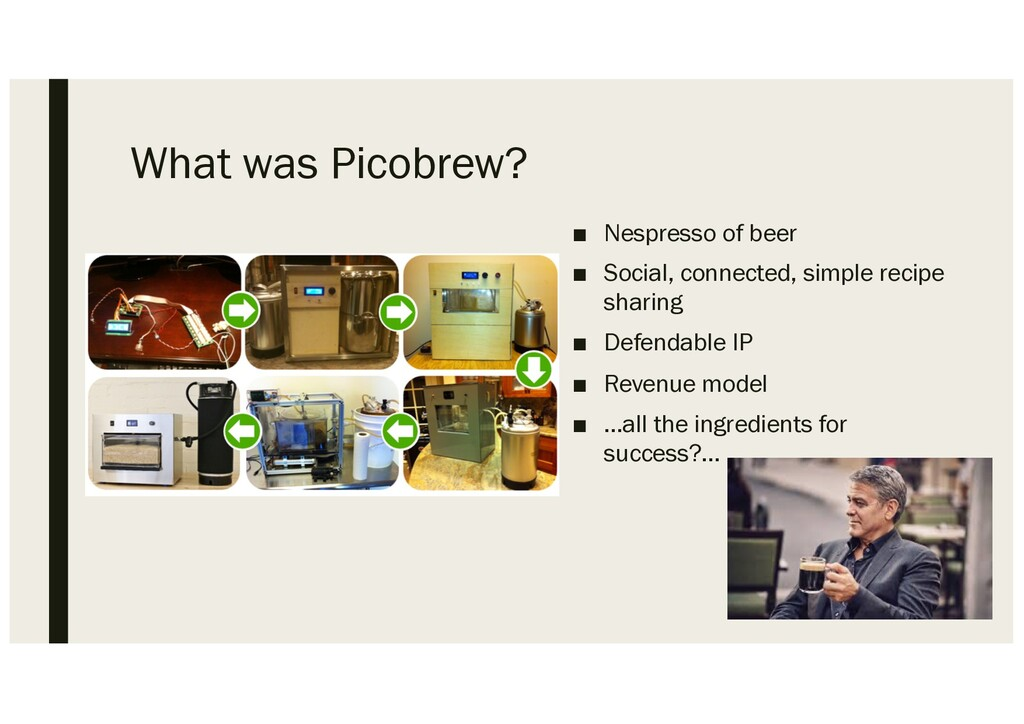 What was Picobrew? ■ Nespresso of beer ■ Social...